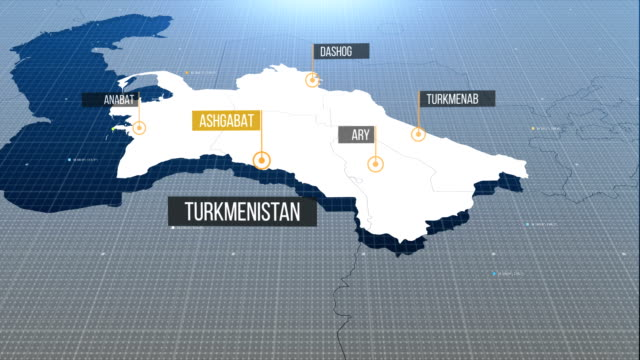 Turkmenistan map map with labels then without labels turkmenistan stock videos & royalty-free footage