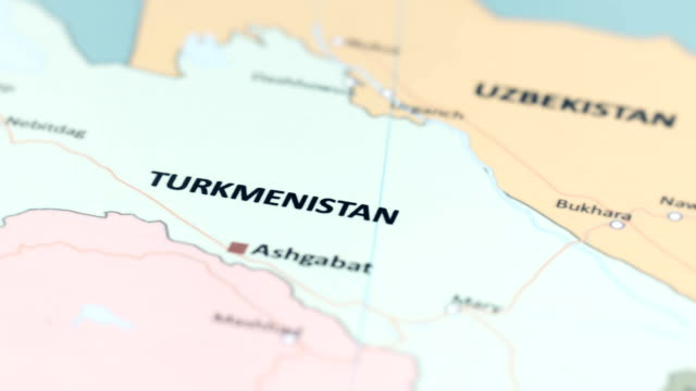 ASIA Turkmenistan on World Map tracking to ASIA Turkmenistan on World Map turkmenistan stock videos & royalty-free footage