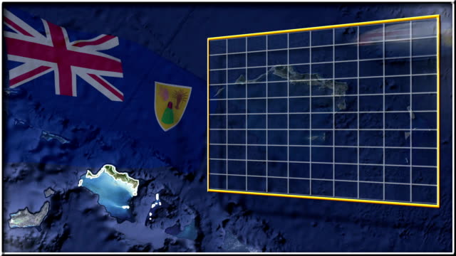 Turks and Caicos Islands flag and map animation Turks and Caicos Islands flag and map animation FULL-HD turks and caicos islands stock videos & royalty-free footage
