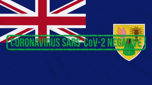 Turks and Caicos swaying flag with green stamp of freedom from coronavirus, loop Turks and Caicos islands swaying flag with green grunge stamp of freedom from coronavirus, loop turks and caicos islands stock videos & royalty-free footage