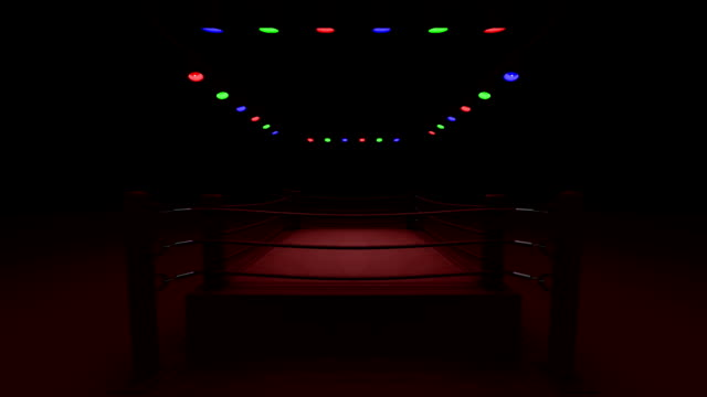 turn boxing ring on red light - wrestling stock videos and b-roll footage