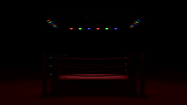 Turn Boxing Ring On Red Light video