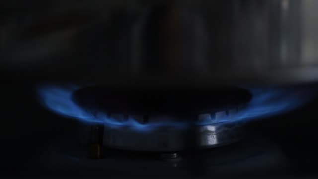turn on gas stove - teapot stock videos & royalty-free footage