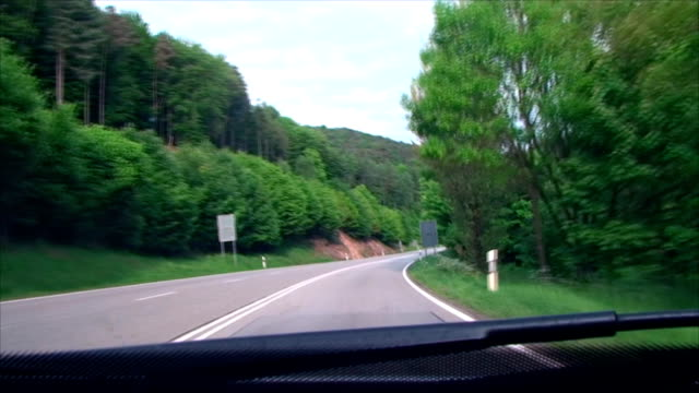 turn on mountain, forest road video