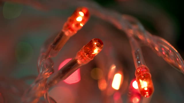 Turn on red led macro Turn on red led macro FullHD lamp shade stock videos & royalty-free footage