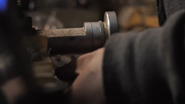 Turner Rotates Carriage Limbs in a Lathe video