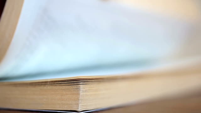 Turning book pages video