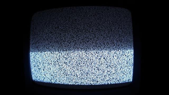slå på av analog tv statisk utan signal - offline bildbanksvideor och videomaterial från bakom kulisserna