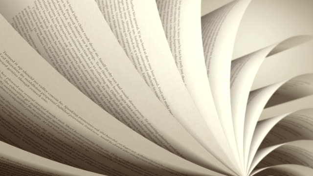 4K Turning Pages (Loop) English Book