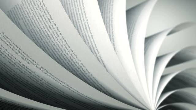 stockvideo's en b-roll-footage met turning pages (loop) english book - literatuur