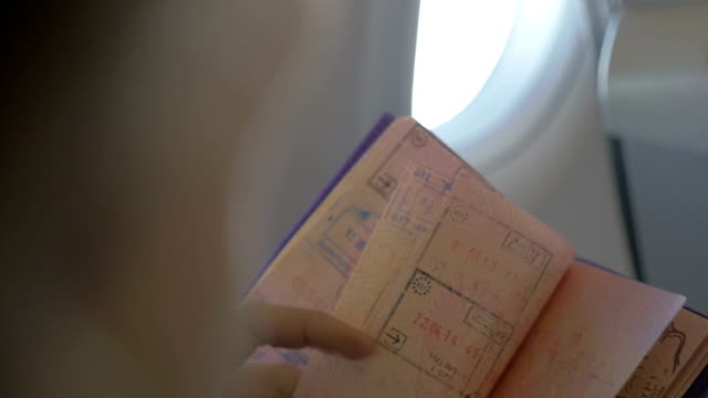 Turning Pages of a Travel Passport video