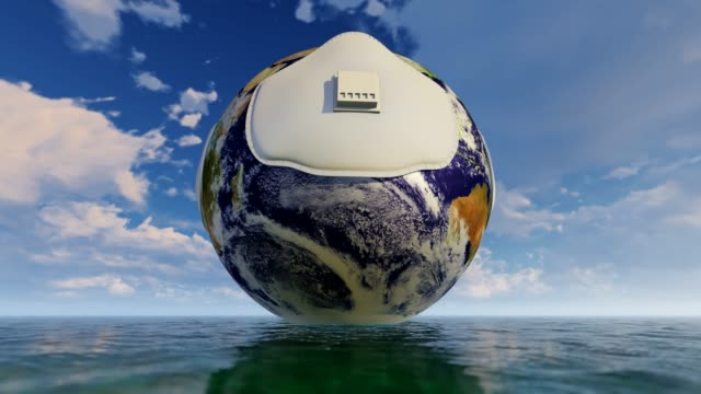 turning planet earth on water concept - earth day stock videos & royalty-free footage