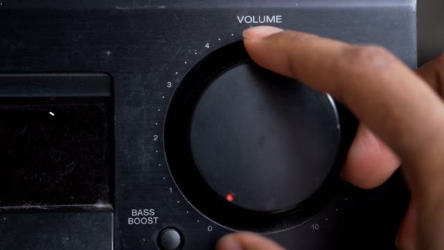 turning up the volume by right human hand