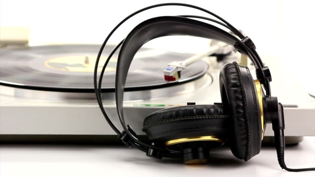 turntable with head set video