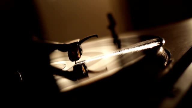 Turntable with professional lighting. video