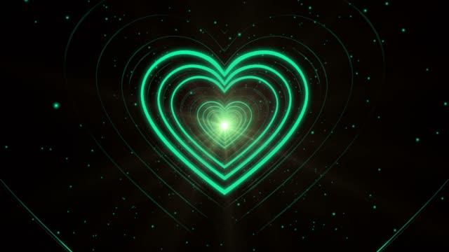 Turquoise Looping Heart Shape Corridor