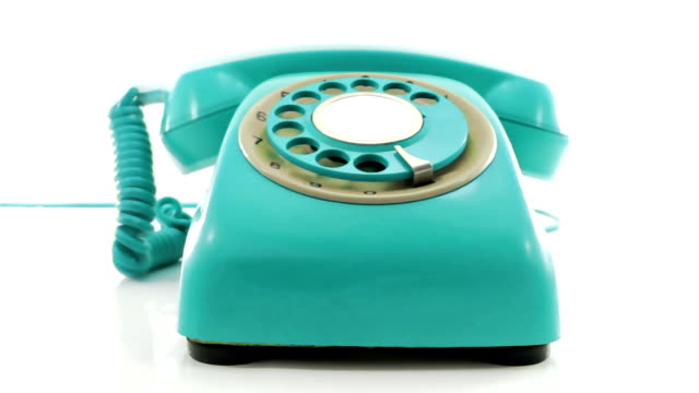turquoise  phone turquoise  retro phone ringing of the hook telephone receiver stock videos & royalty-free footage