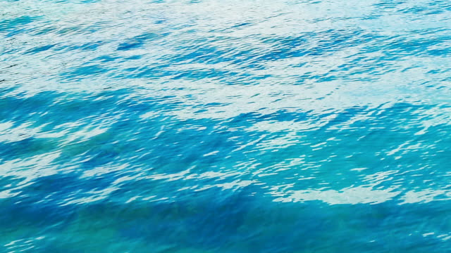 turquoise sea surface with waves video