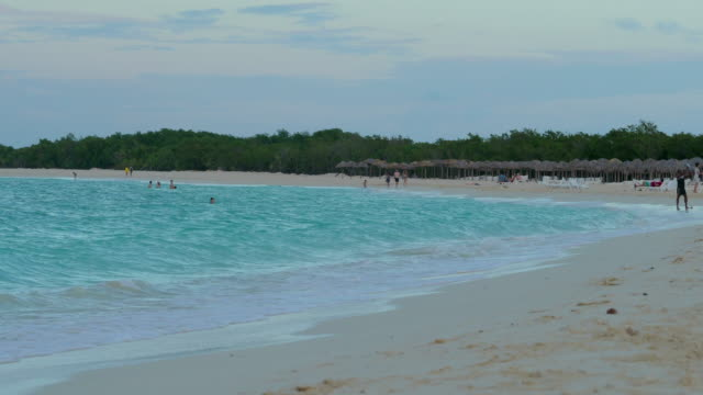 Turquoise Water of Flamenco Beach at Sunset, Cayo Coco, Cuba video