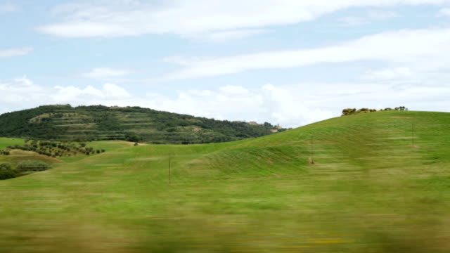 Tuscan panorama in summer time on afternoon video HD video