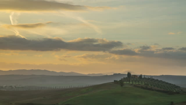 Tuscany italy landscape agriculture in the morning video