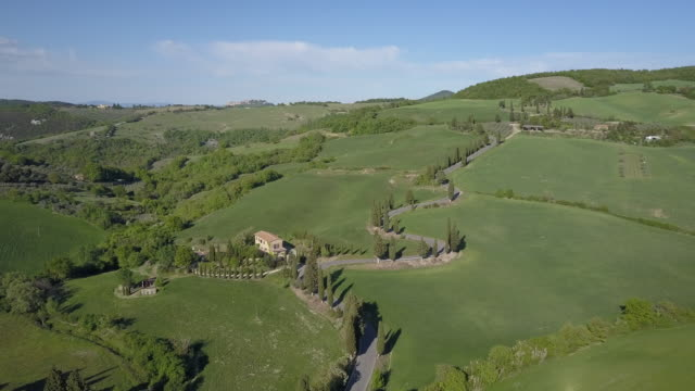 Tuscany landscape with green hills video
