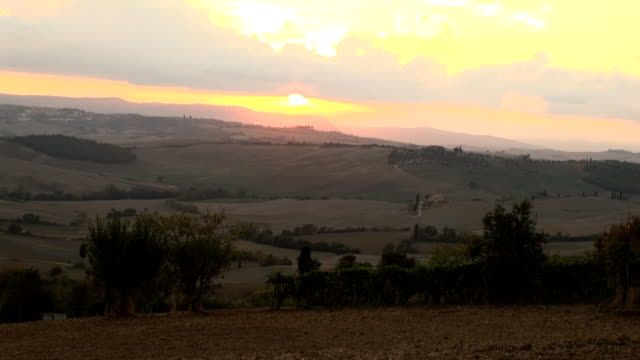 Tuscany sunset video
