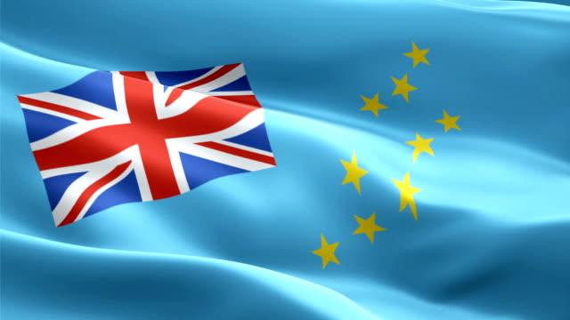tuvalu waving flag. national 3d tuvaluan flag waving. sign of tuvalu island seamless loop animation. tuvaluan flag hd resolution background. tuvalu flag closeup 1080p full hd video for presentation - kiss filmów i materiałów b-roll