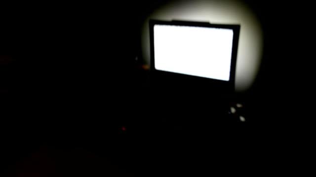 Tv Noise In Dark Living Room Video