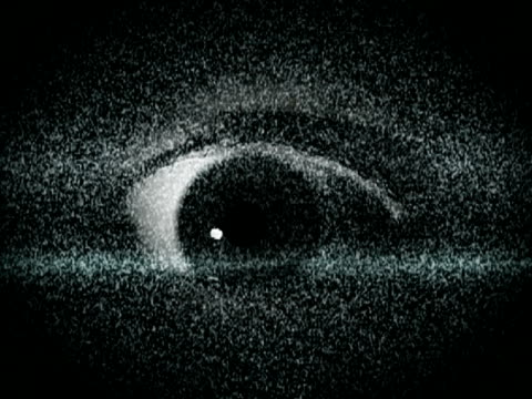 Tv static with eye video