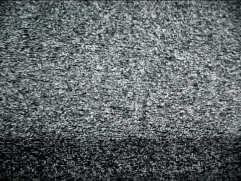 Tv static with noise video