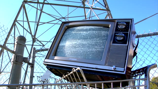 TV-power-tower-static video