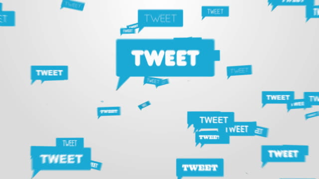 un tweet! - messaggistica online video stock e b–roll