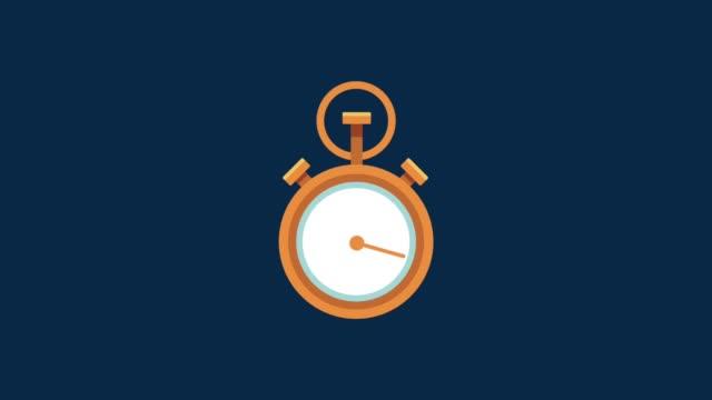 vídeos de stock e filmes b-roll de twenty four hours seven days service hd animation - 20 24 anos