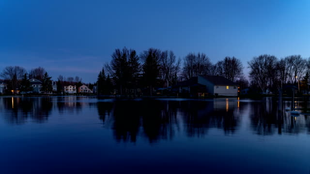 Twilight at Lagoon City of Lake Simcoe, Ontario,Canada