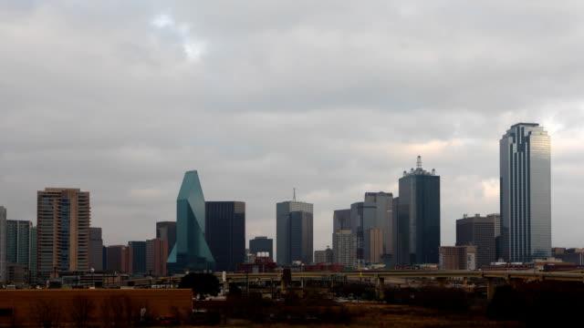 Twilight timelapse of the Dallas skyline