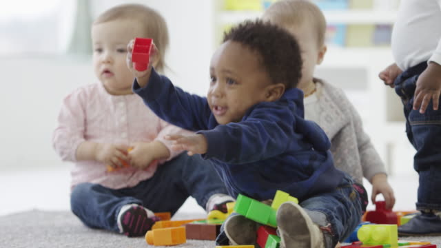 Twin sisters and brothers together at preschool video