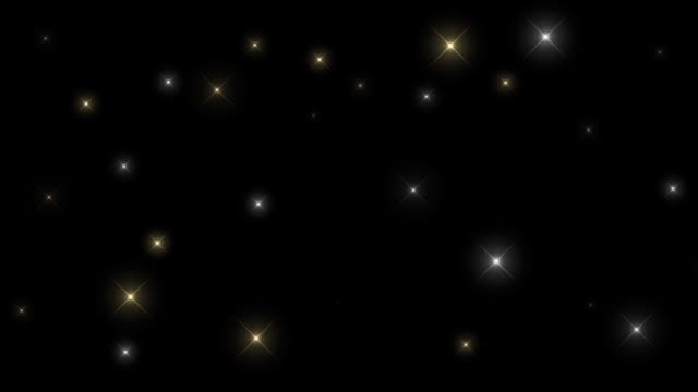 Twinkle of brilliant multicolored stars on a black background HD