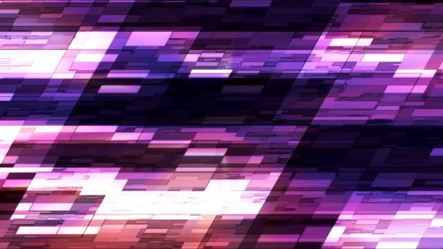 vídeos de stock e filmes b-roll de twinkling horizontal inclinados hi-tech pequenas barras de 20 - mosaicos flores