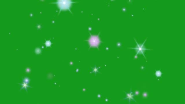 blinkande stjärna grön skärm rörlig grafik - skinande bildbanksvideor och videomaterial från bakom kulisserna
