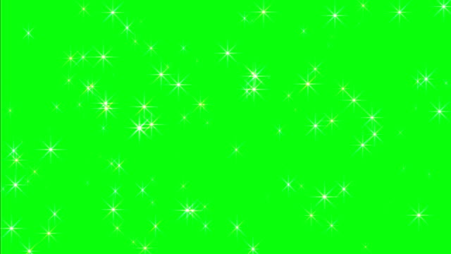 Twinkling Stars On Green Screen video