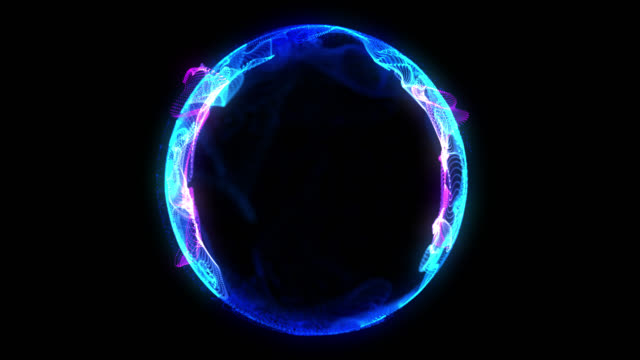 Twist Blue Purple Sphere Plasma Spin Motion Twist Blue Purple Sphere Plasma Moving Particle Form Motion Background changing form stock videos & royalty-free footage