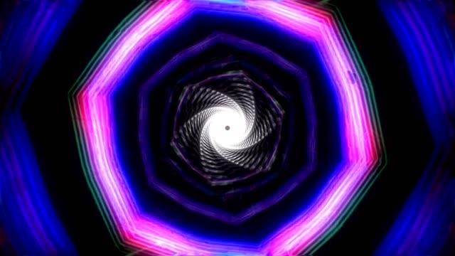 Twisted retro neon tunnel