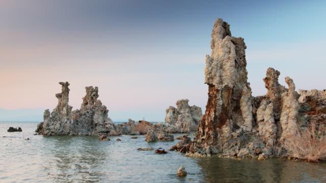 Twisted Tufa Pillars at Mono Lake video