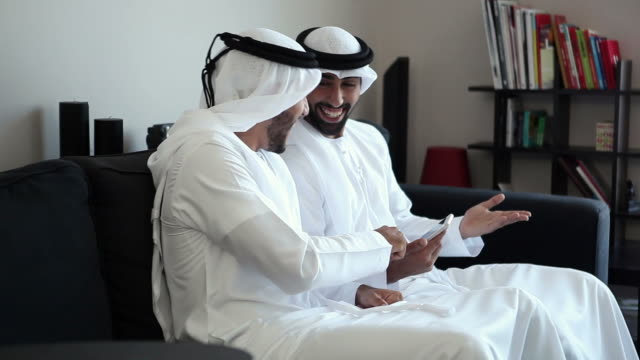 Two Arab Man with smart phone video