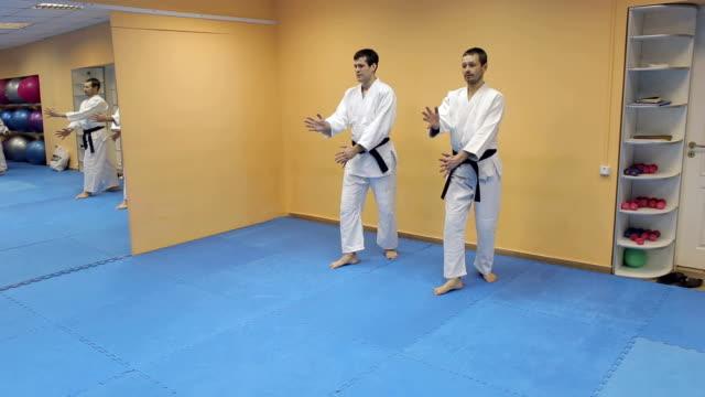合気道の手法は 2 つのスポーツマン。 - 武道点の映像素材/bロール