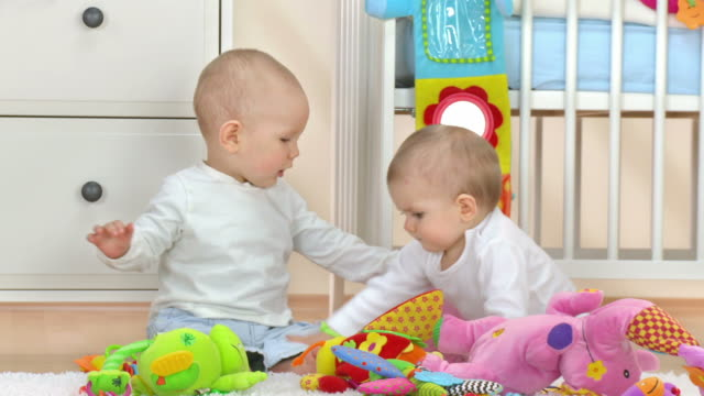 hd: two babies fighting - brother stock videos and b-roll footage