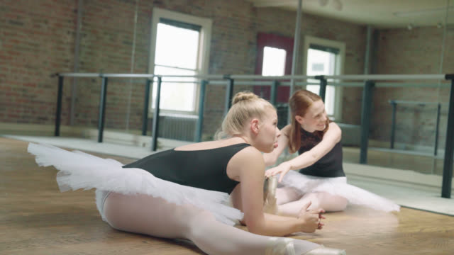 Two Ballerinas Stretching video