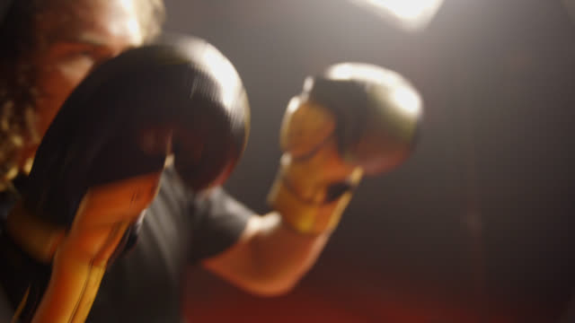 Two Boxers Touch Gloves video