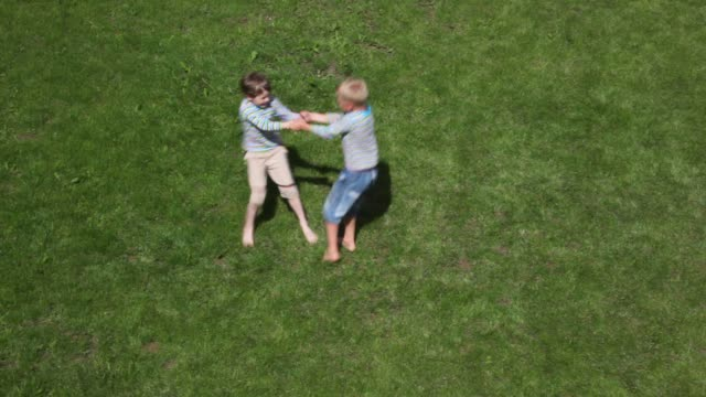 Two boys playing video